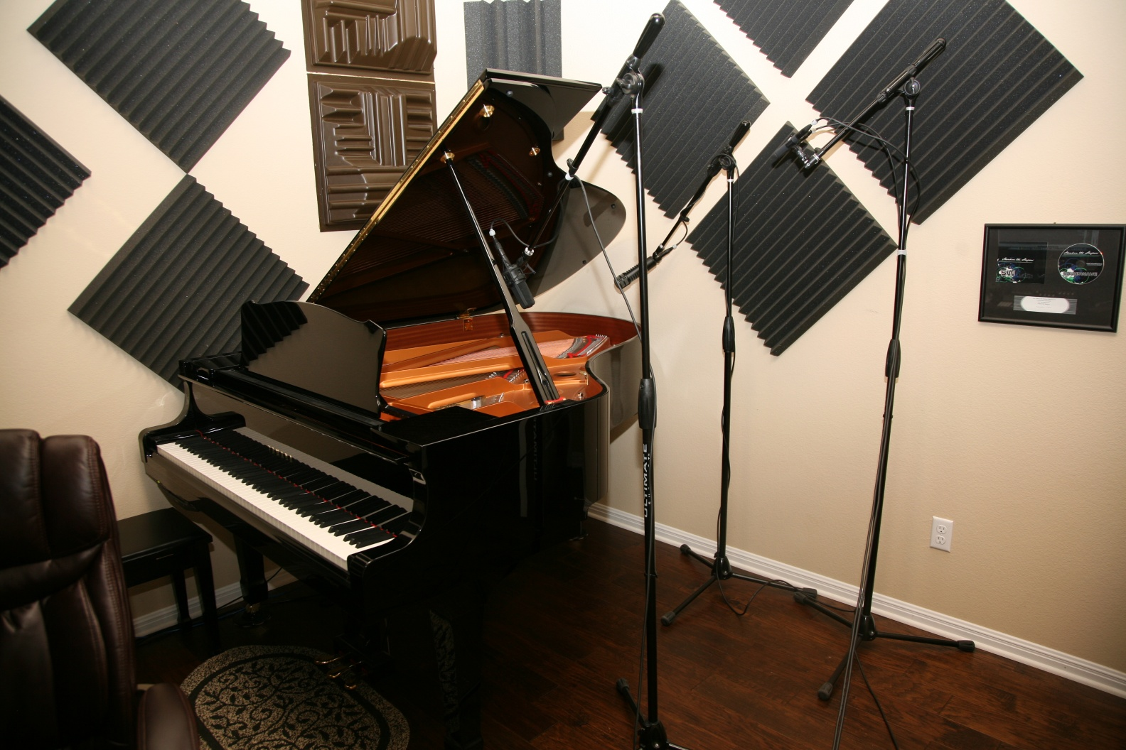 Grand piano mic technique and hardware used to record the podcast ...